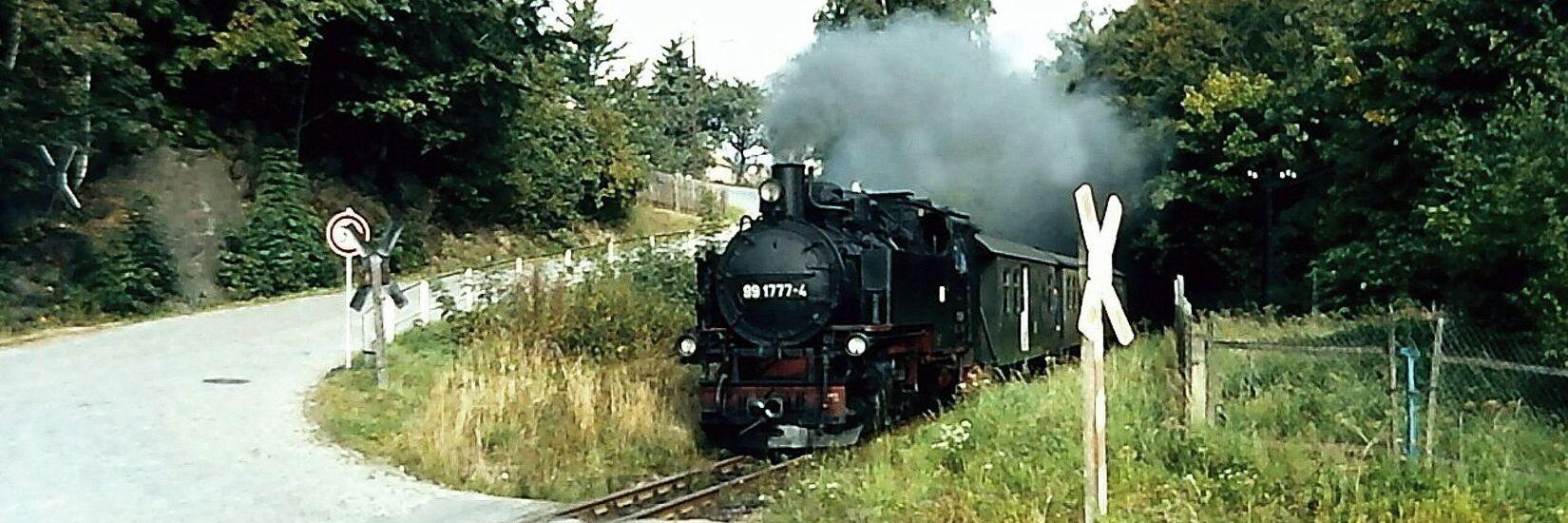 Dampfzug in den 1990er Jahren